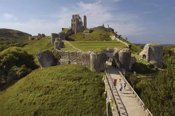 View of Corfe Castle